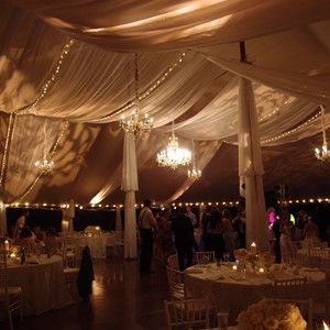 DesignLight tent fabric, chandeliers and lighting