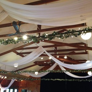 DesignLight overhead fabric and bistro garlands