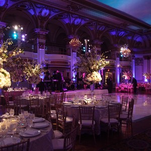 DesignLight Fairmont Copley lighting for wedding
