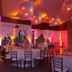 DesignLight Seaport Hotel wedding fabric and lights