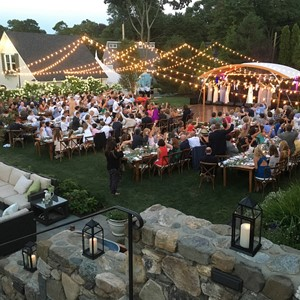 DesignLight Hingham backyard wedding bistro canopy