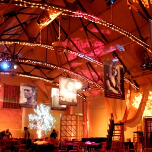 DesignLight Elm Bank Carriage House mitzvah lighting canopy and gobos