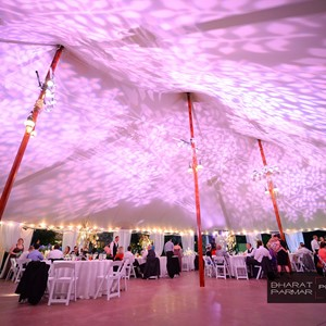DesignLight tent lighting with gobos