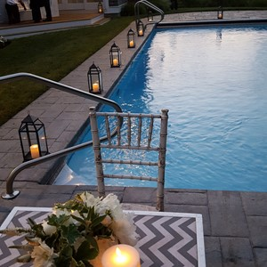 DesignLight cape cod pool wedding lanterns