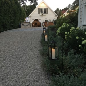 DesignLight Hingham backyard wedding lanterns
