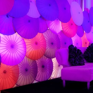 DesignLight umbrellas wall