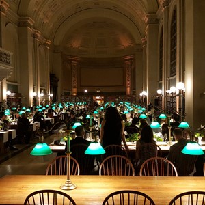 DesignLight Boston Public Library Bates Hall uplighting