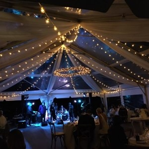 DesignLight Cape Cod wedding lighting and fabric