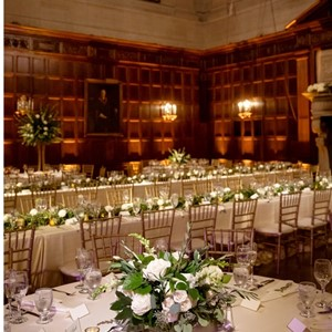 DesignLight Harvard Club wedding with uplighting and pin spots