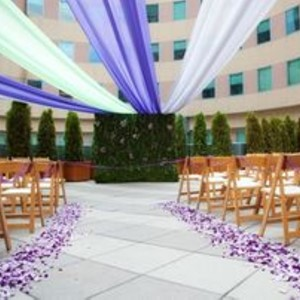 DesignLight Hyatt Boston wedding outdoors with fabric