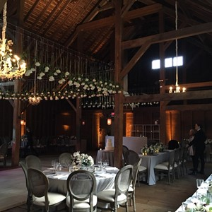 DesignLight Stonover Farm wedding with crystal chandelier